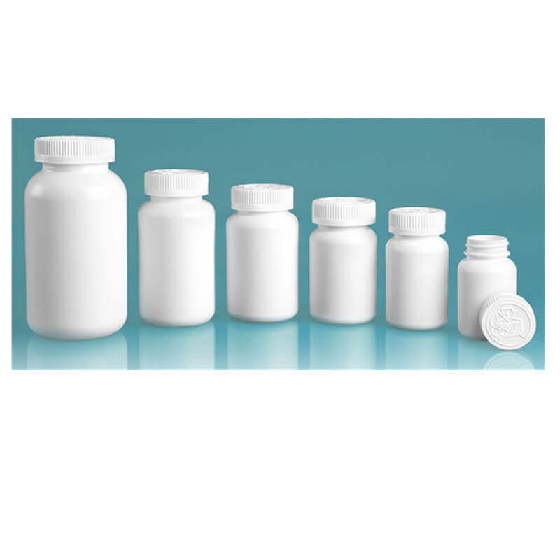 Hdpe Pharmaceutical Round Bottles Child Resistant Caps